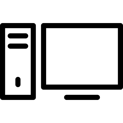 computer outline png