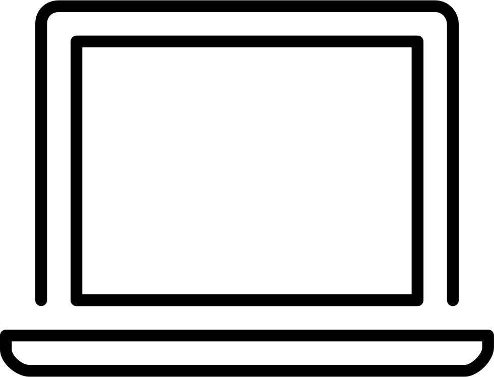 Computer screen icon png. Laptop svg free download