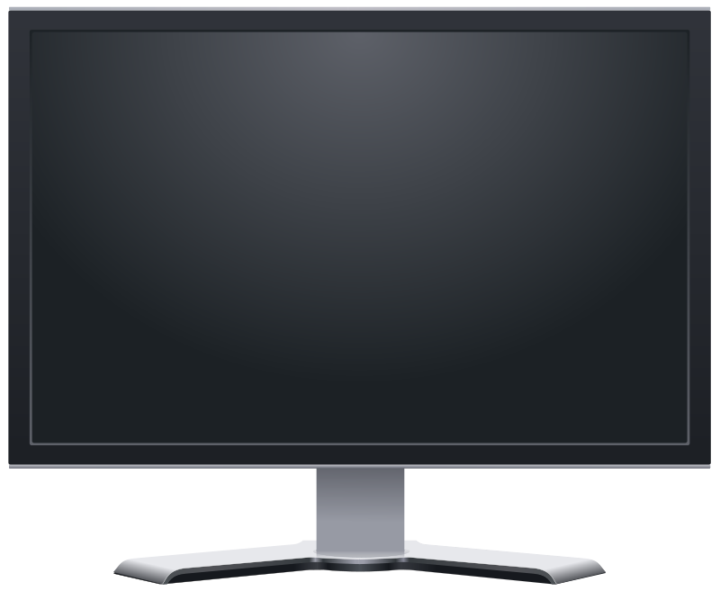 Computer screen png. Three isolated stock photo