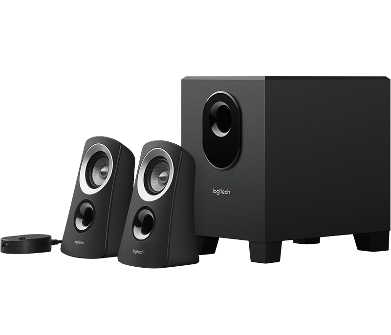 Computer speaker png. Logitech z system with