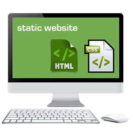 Computer static png. Html website designing services