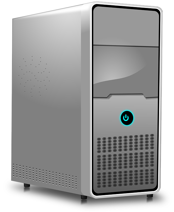 Computer tower png. Cpu black and white