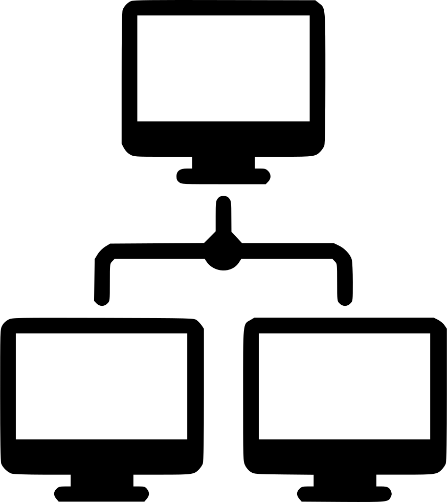 Network icons png. Free computer icon black