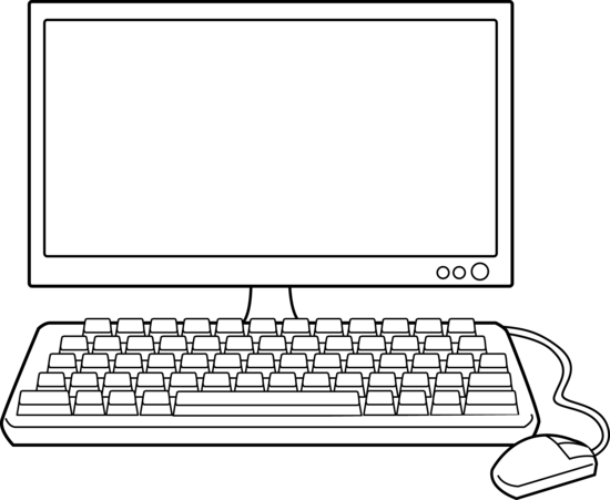 Computer clipart line pencil. Computers drawing svg royalty free library