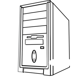 Computers drawing black and white. Computer cpu png transparent