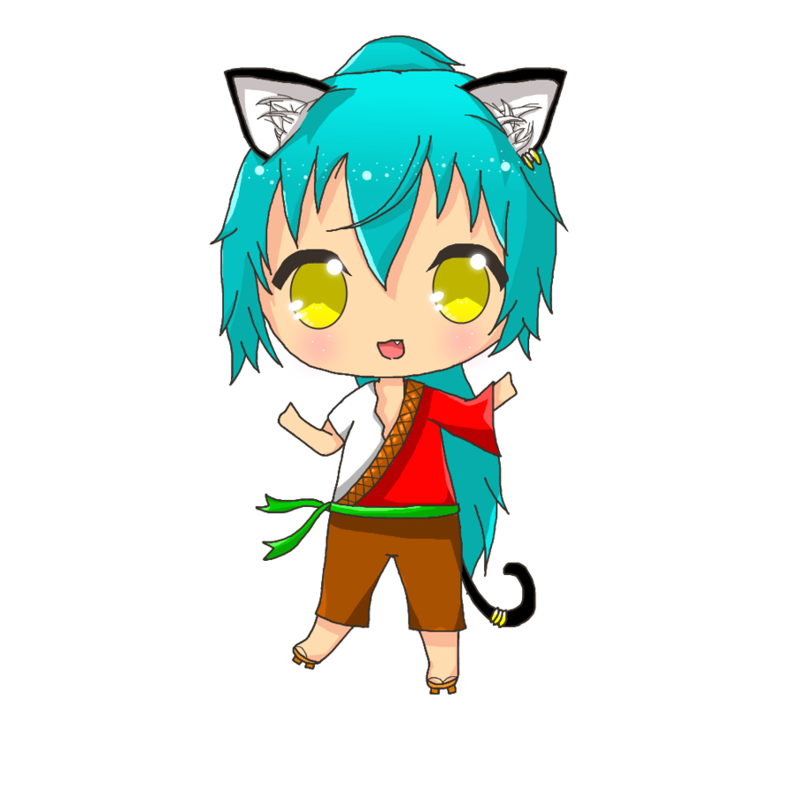 Computers drawing chibi. Yu commission by tikaanime