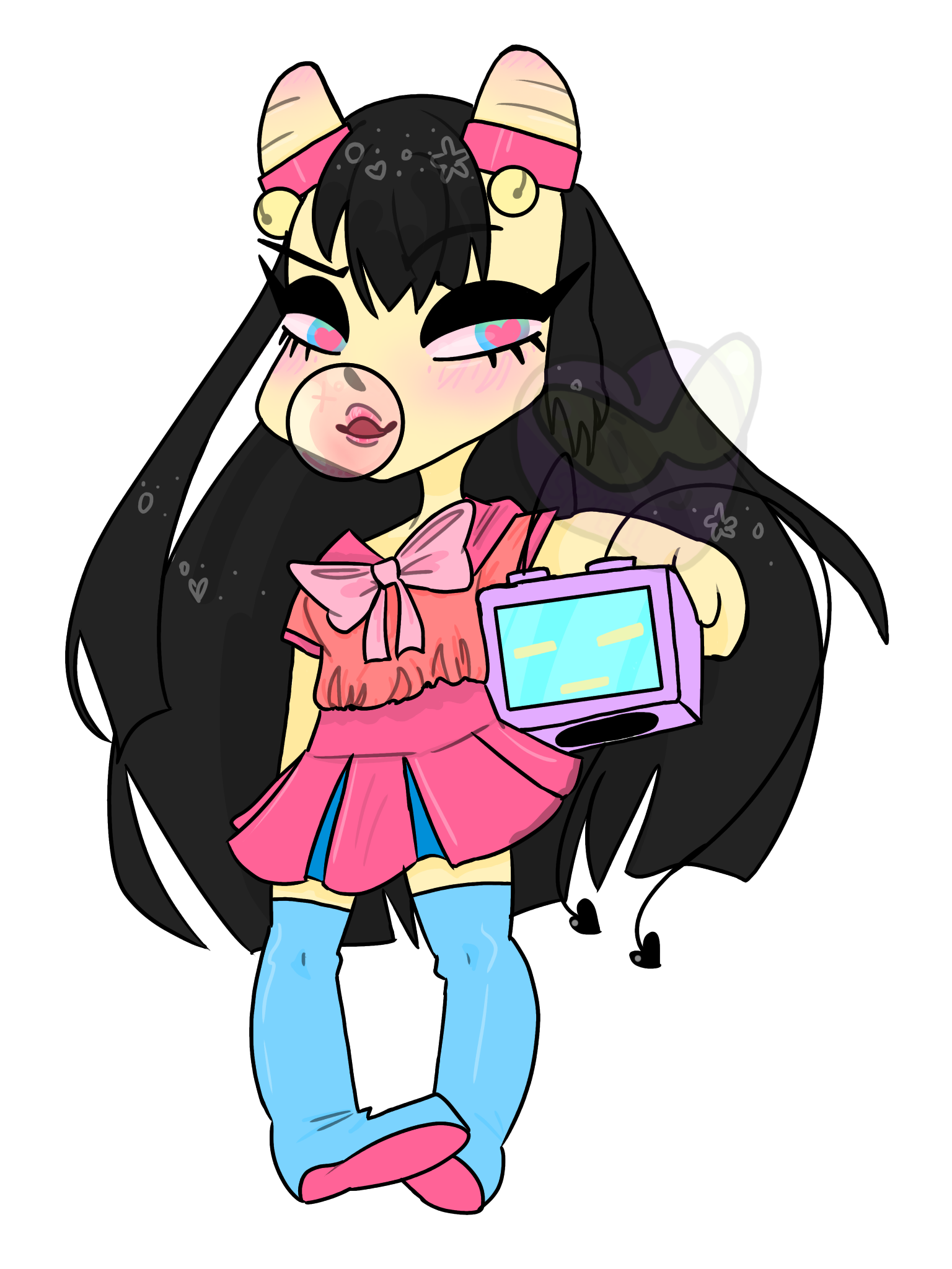 Computers drawing chibi. Computer drawings on paigeeworld
