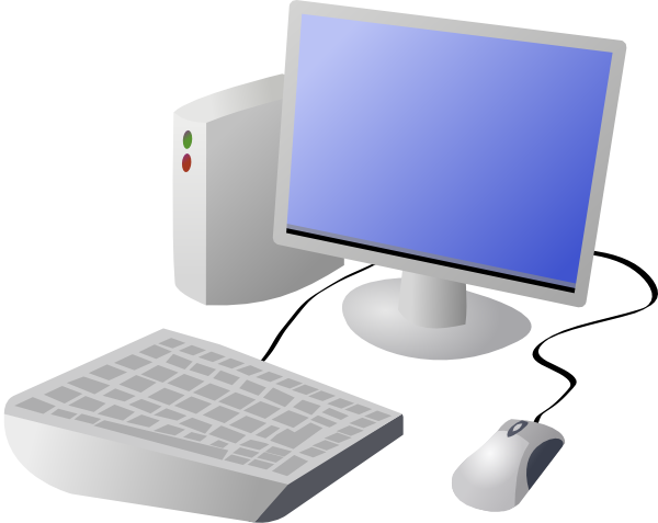 Dtrave cartoon computer and. Drawing computers komputer clip art black and white download