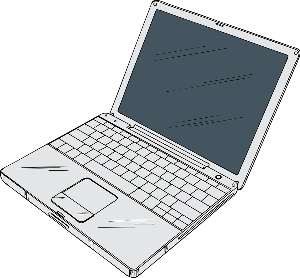 Computers drawing laptop. Free stock photo illustration