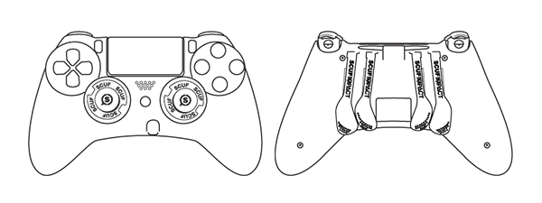 Computers drawing outline. Instructions xbox playstation pc
