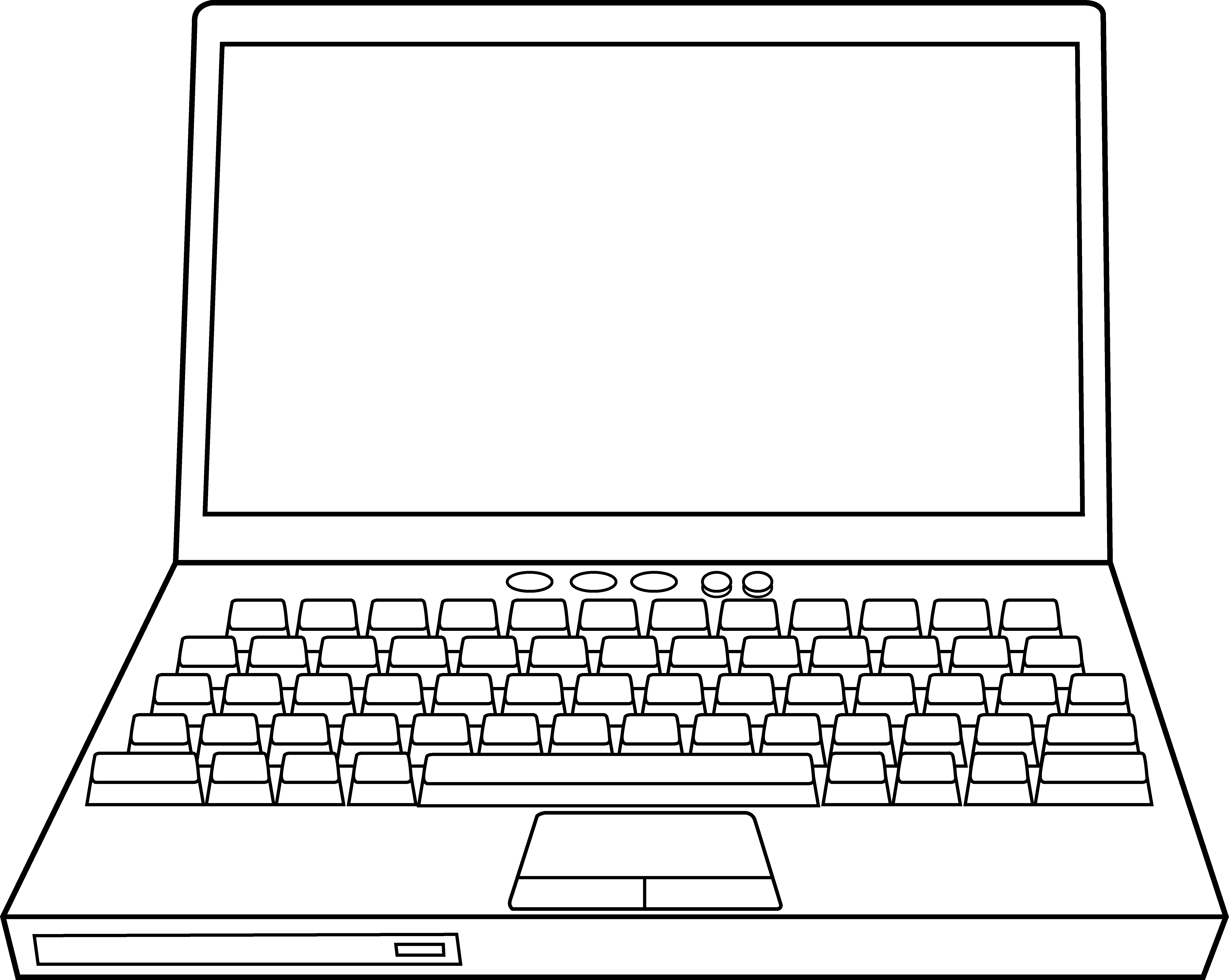 Drawing computers line. Coloring pages free library