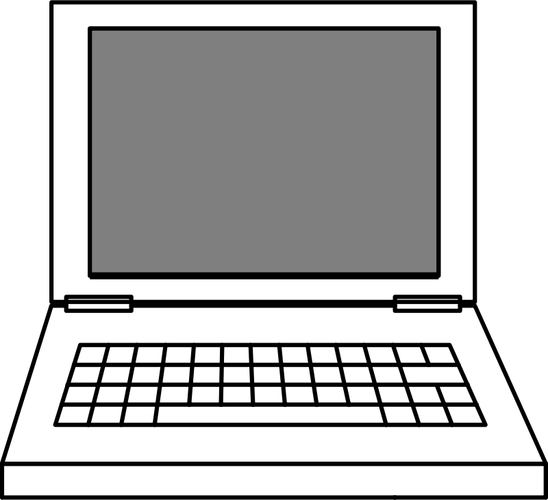 Computers drawing transparent. Laptop clipart free images