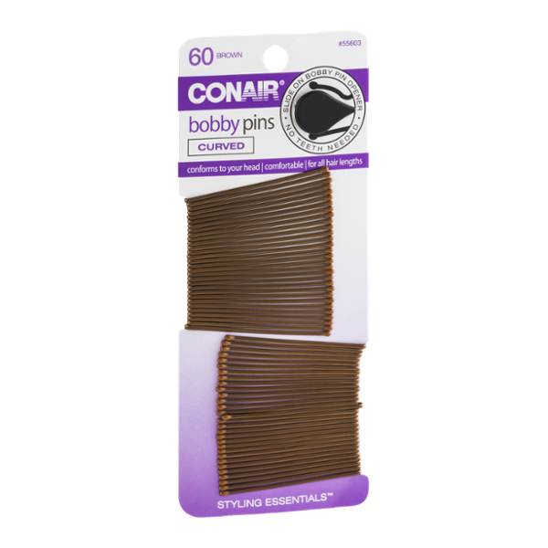 Conair clip styling essentials. Bobby pins brown ct