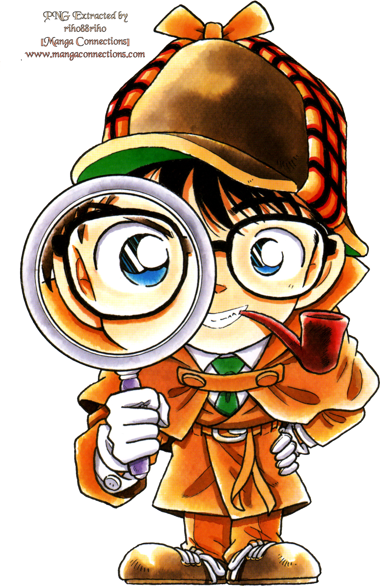 Conan clip art. Detective with magnifying glass