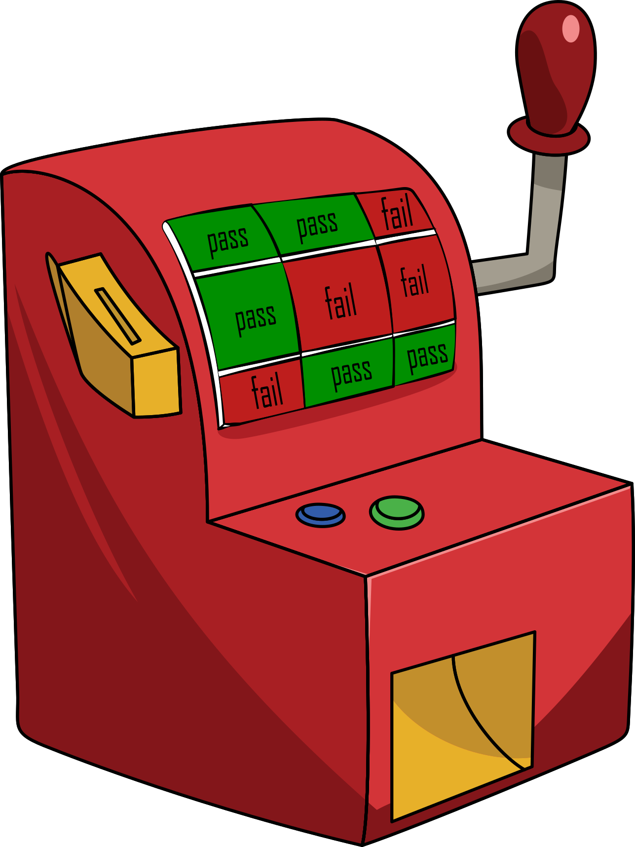 Slot machine clipart