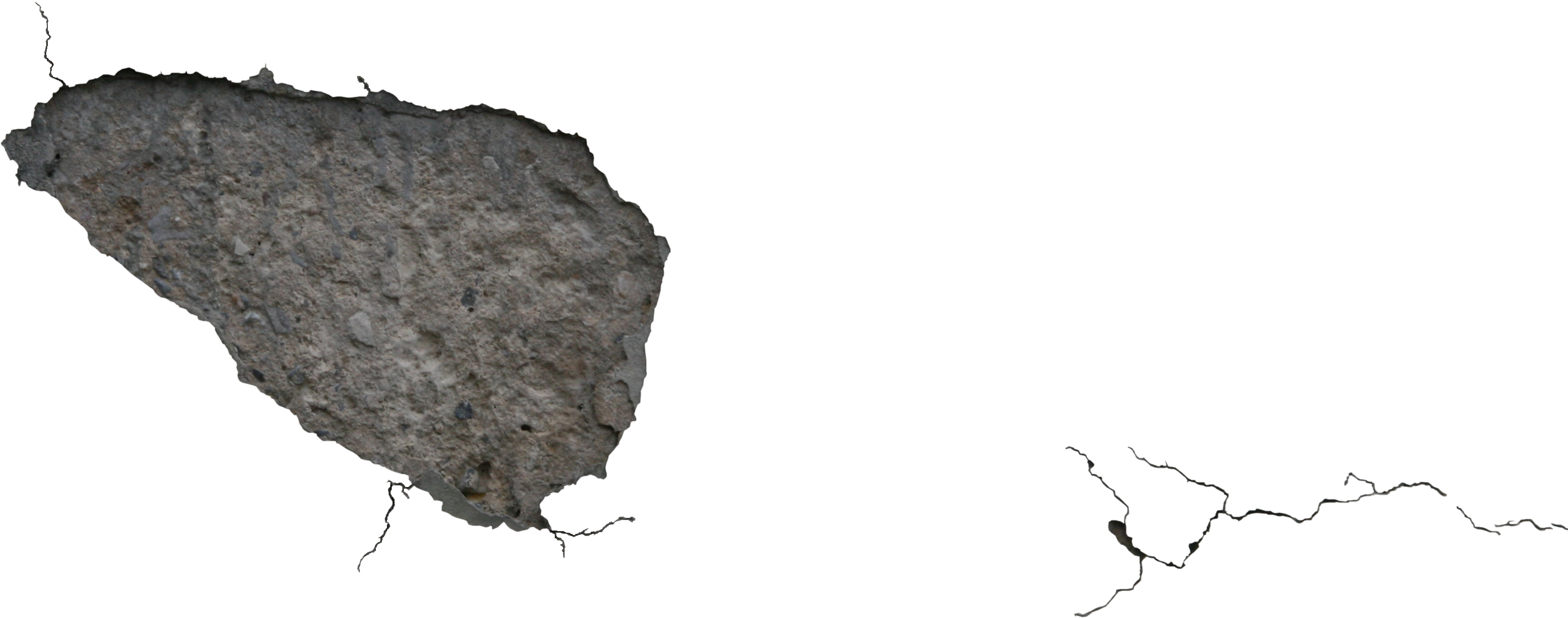 Concrete crack png. High quality cracked stucco