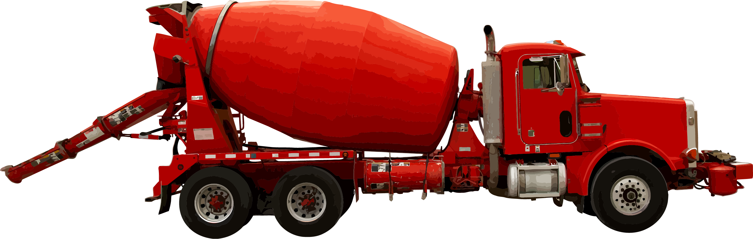 Concrete truck png. Cement mixers heavy machinery