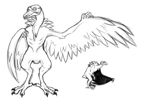 Monster tumblr filename says. Condor drawing vector black and white library