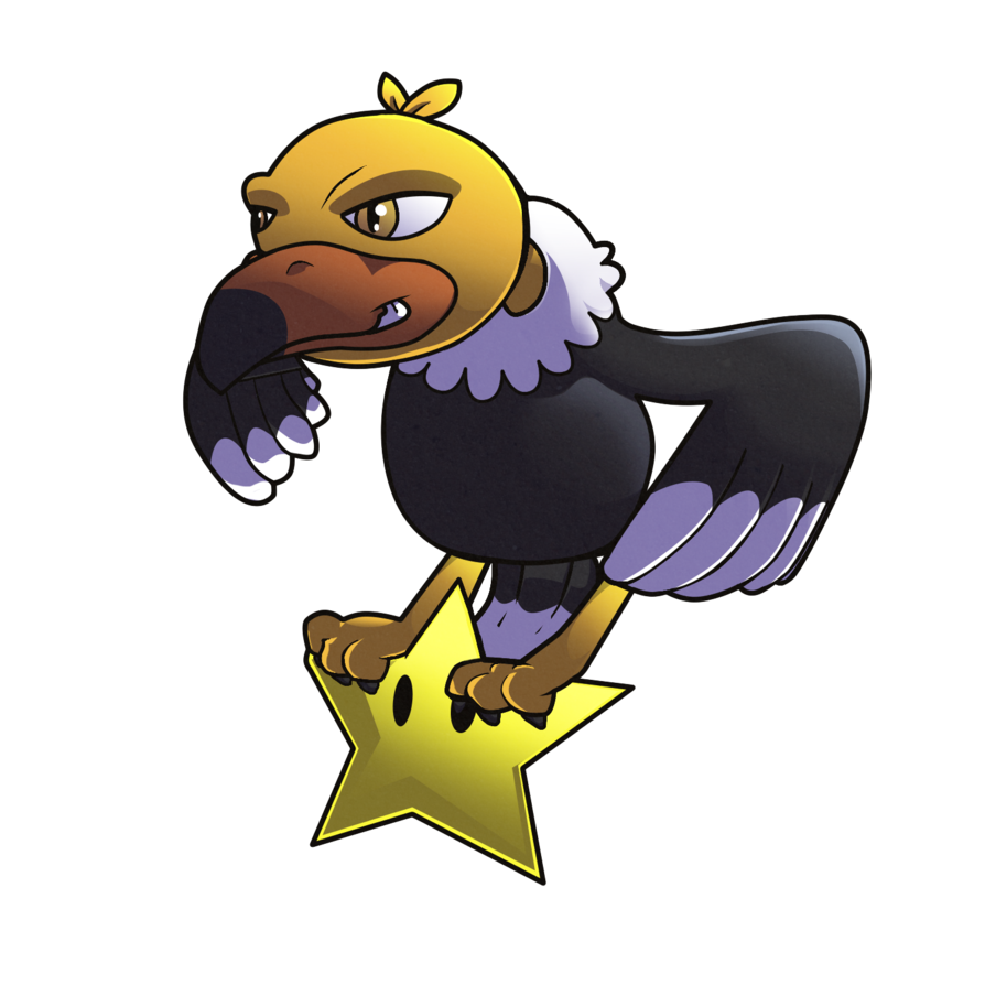 Condor drawing animated. Klepto the by blooperkoopa