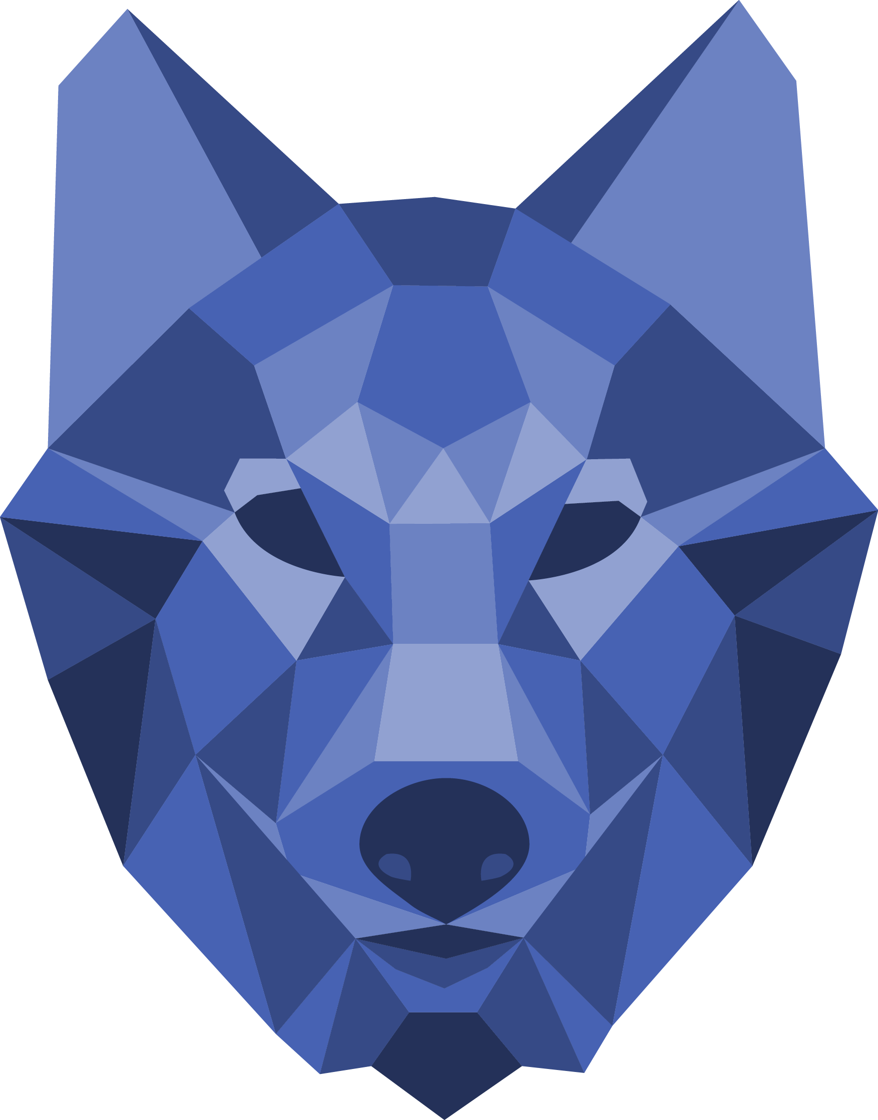 polygons drawing fox