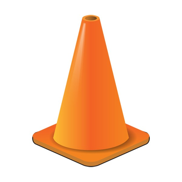 Cone clipart. Orange