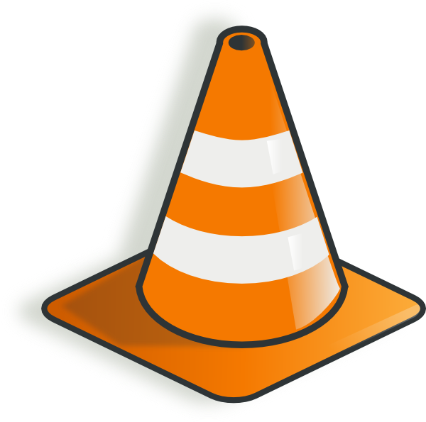 Traffic clip art at. Cone clipart caution banner free download