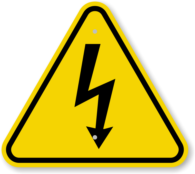 Shock vector sign. Free caution triangle symbol