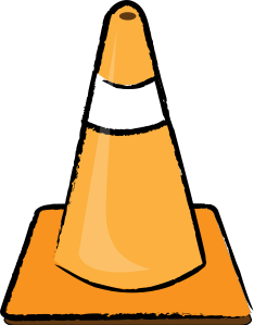 Cone clipart construction zone.