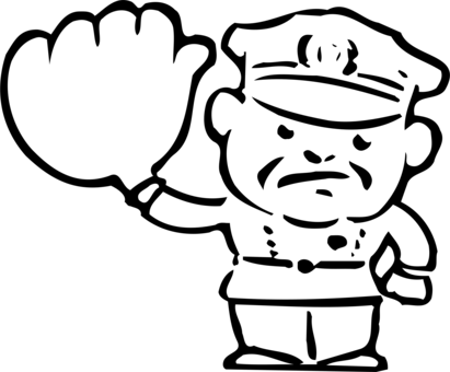 Cop clipart black and white. Traffic cone computer icons