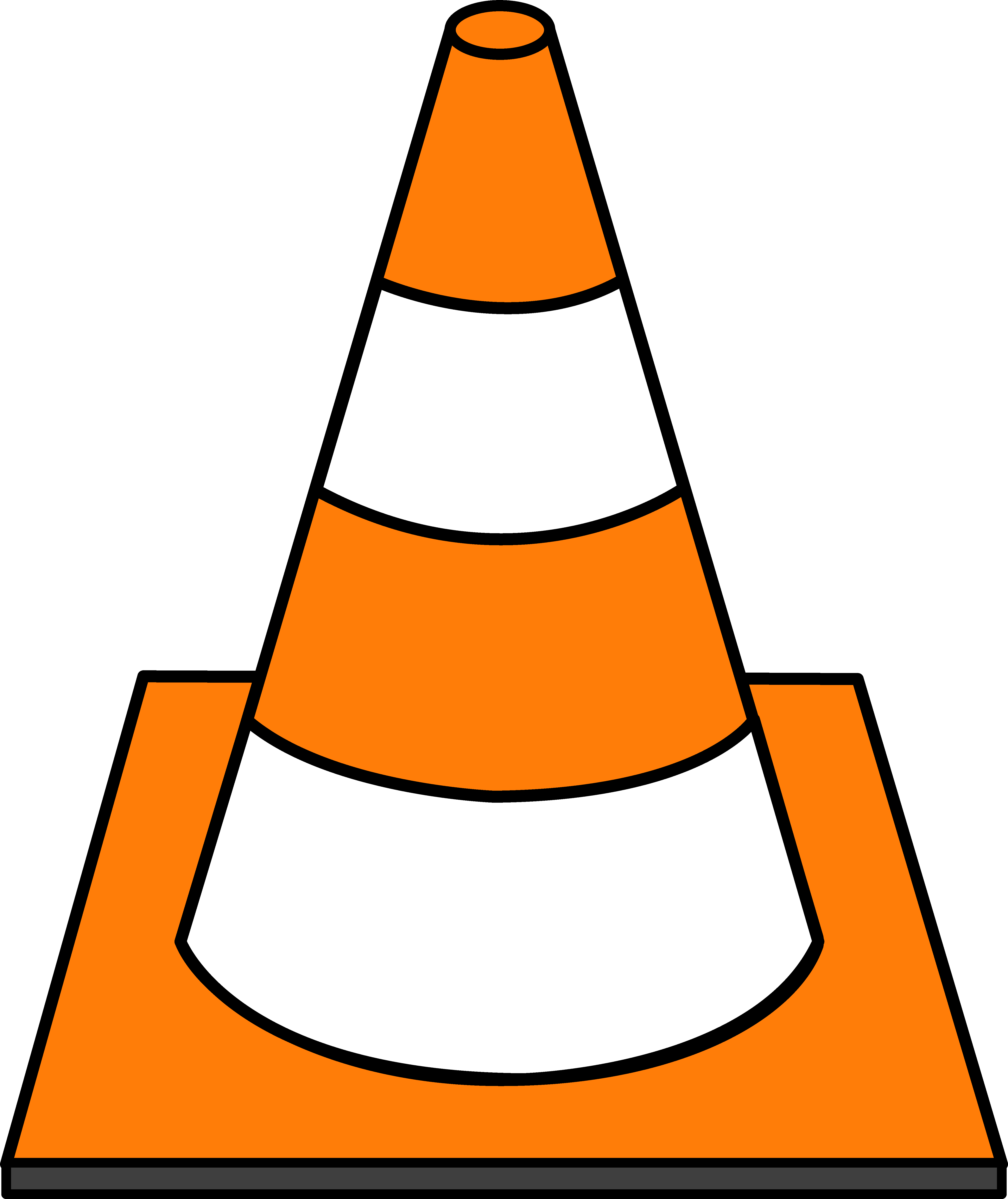 Striped road cone under. Backhoe clipart construction birthday transparent library