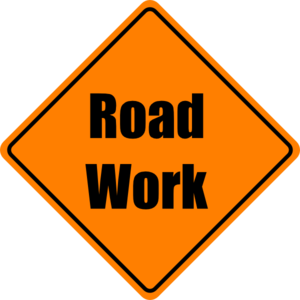 Cone clipart road work. Construction sign clip art