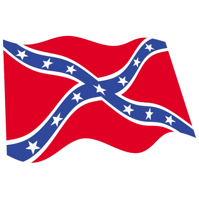 Confederate flag. Rebel clipart station