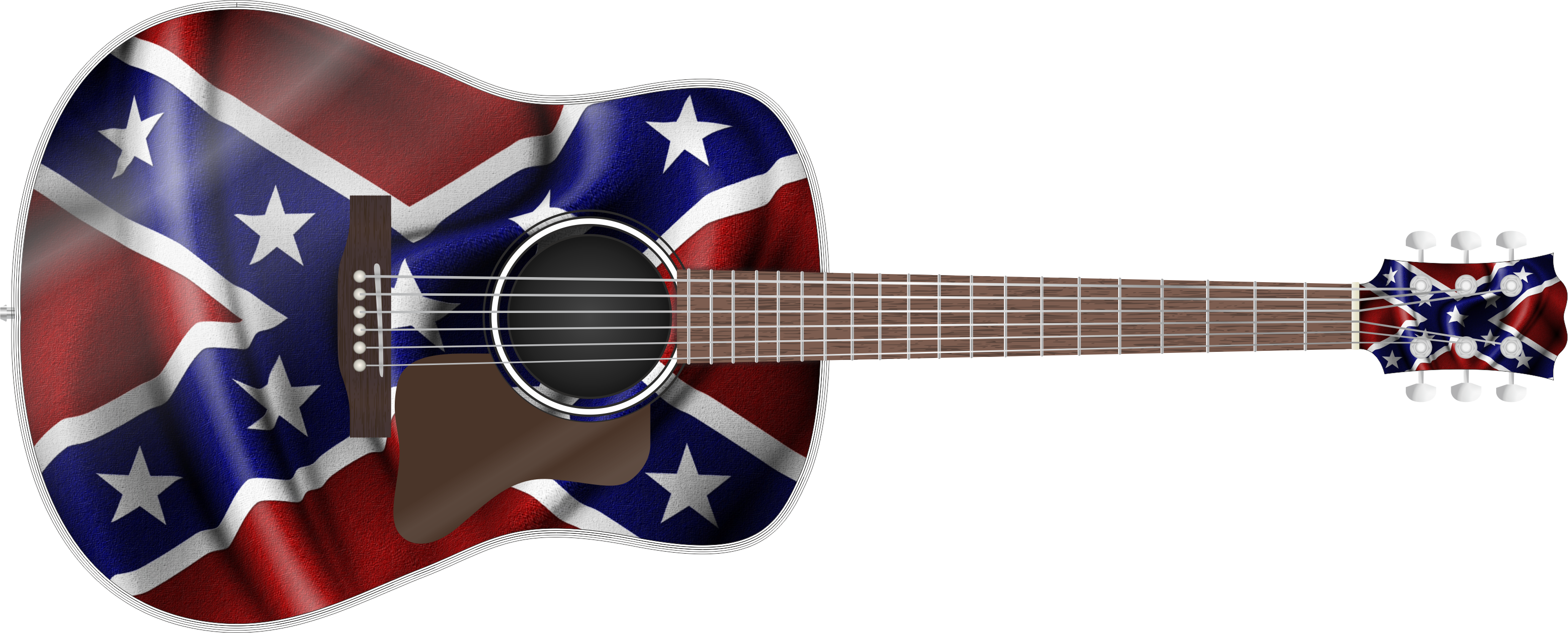 Confederate flag png. Guitar wrap skin