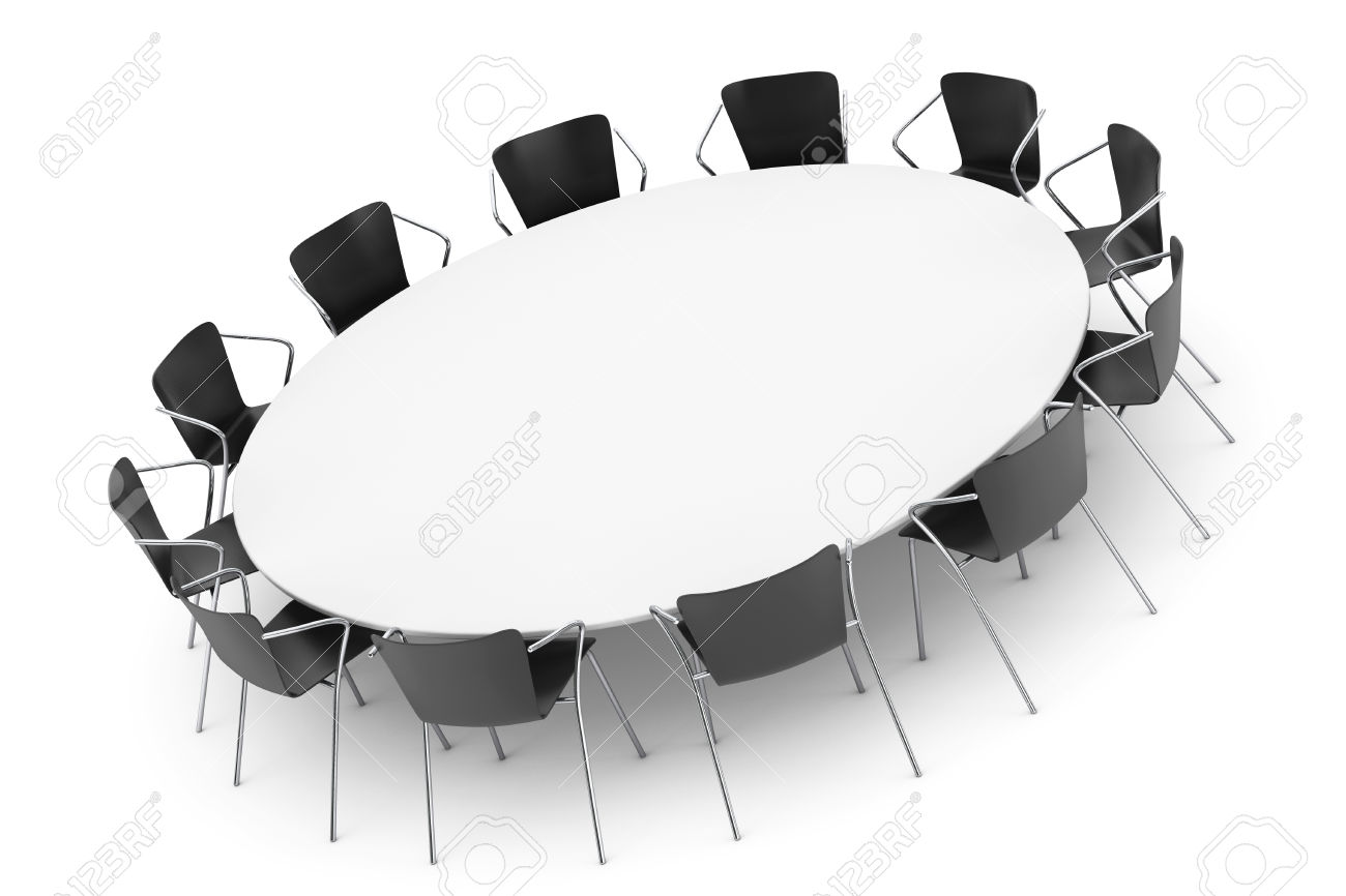 Conference clipart black and white. Office table rendering of