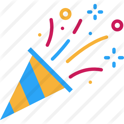 Party blower png. Confetti free birthday and