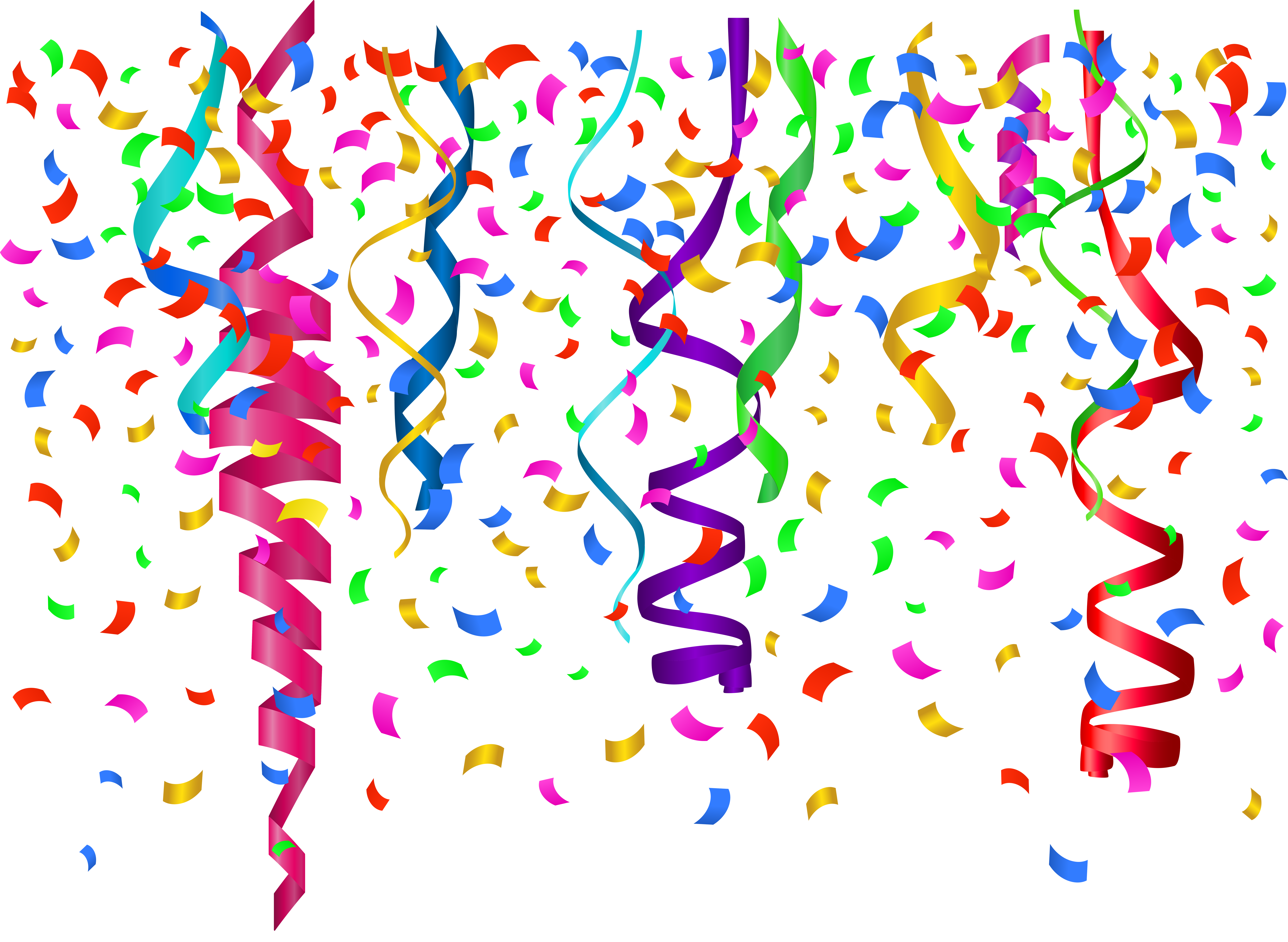 Happy birthday confetti png. Transparent clip art image