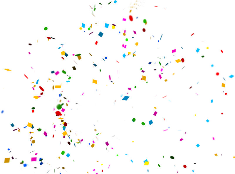 Confetti overlays png. Collection of clipart