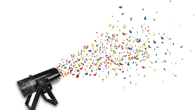 Confetti cannon png. Clipart frames illustrations hd