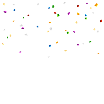 confetti transparent background png