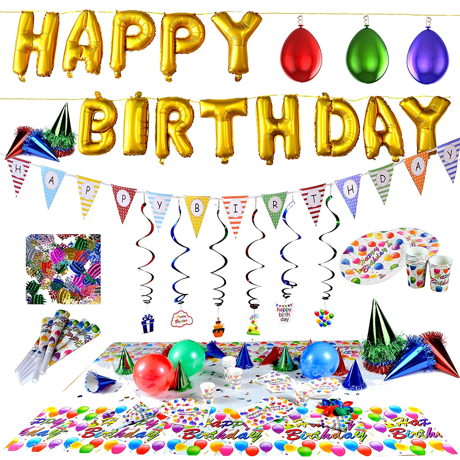 Amazon com joyin toy. Confetti clipart birthday accessory picture transparent stock