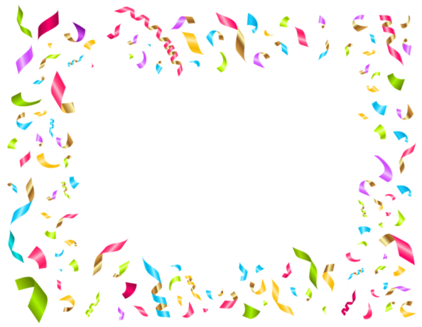 Transparent decoration confetti. Download birthday party png