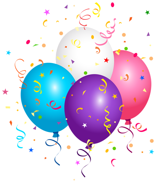 Happy birthday confetti png. Balloons and clipart image