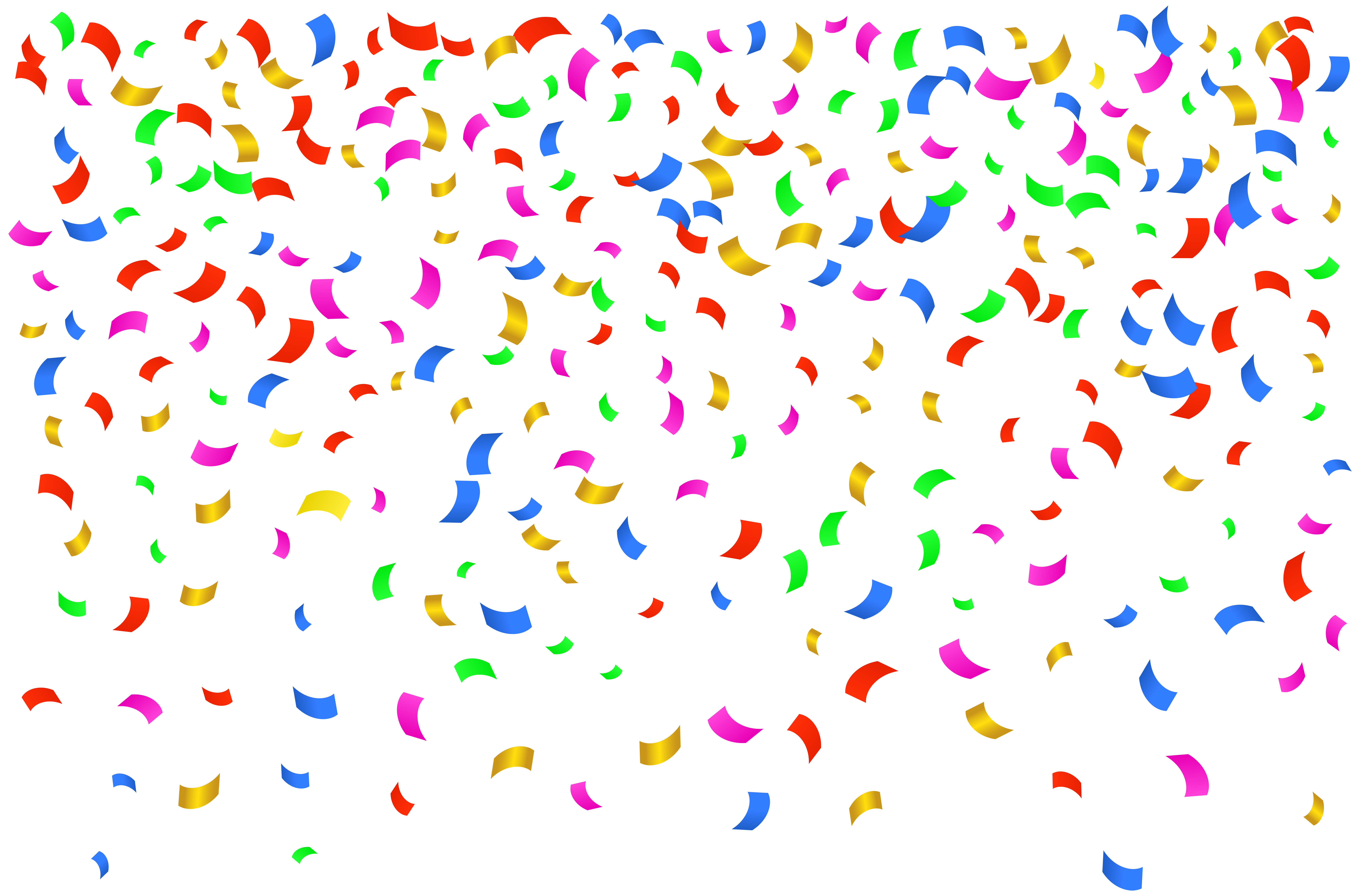 Happy birthday confetti png. Download free transparent image
