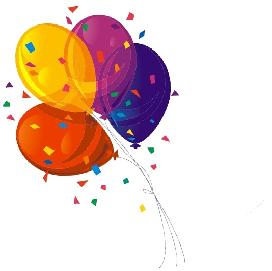 Confetti drawing balloon. Paper toy transprent png