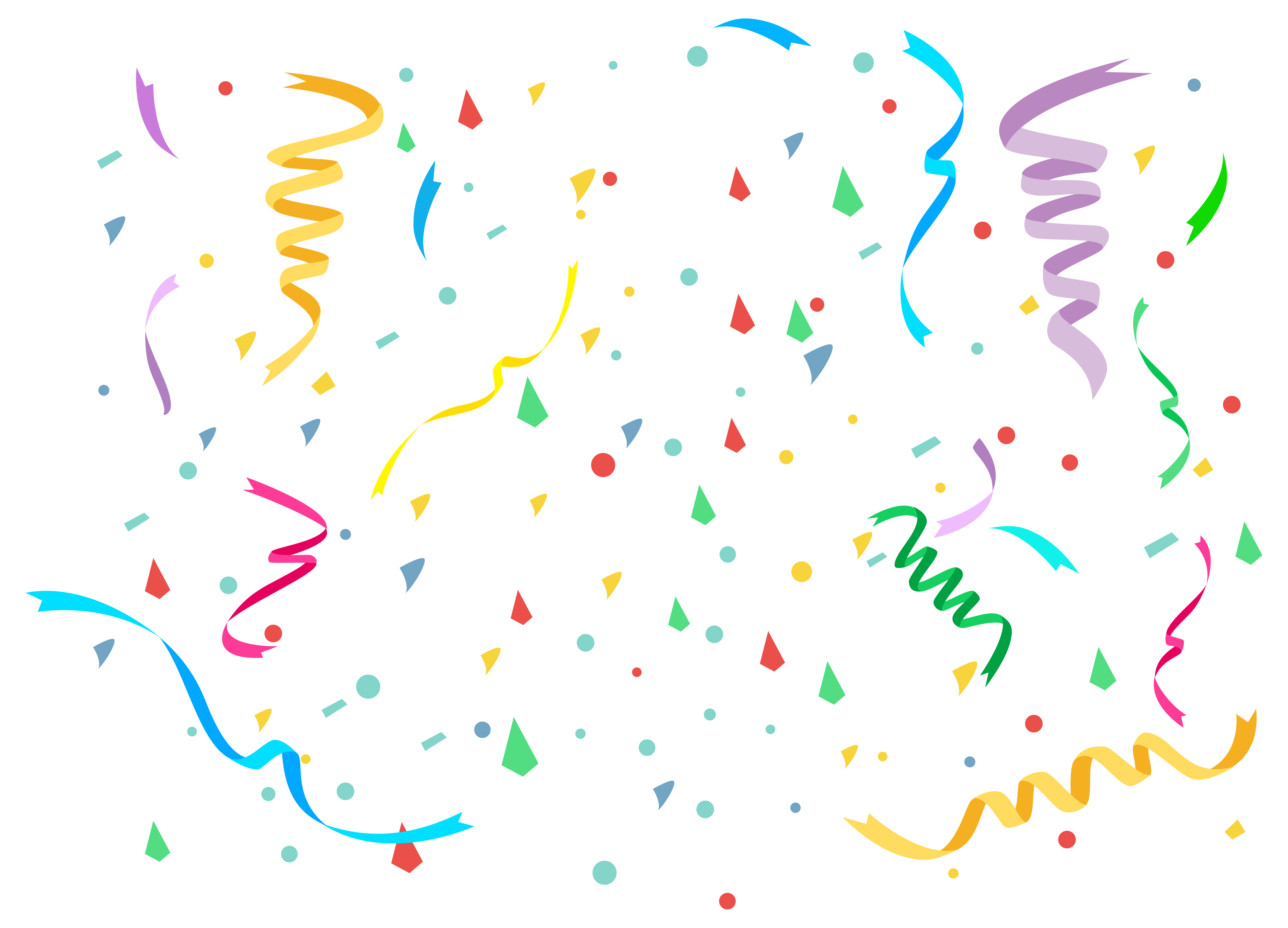Pop vector confetti. Collection of free conferree