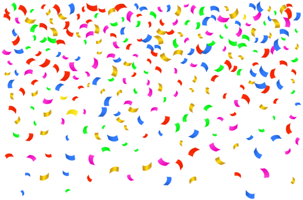 Streamers vector confetti. Transparent png clip art