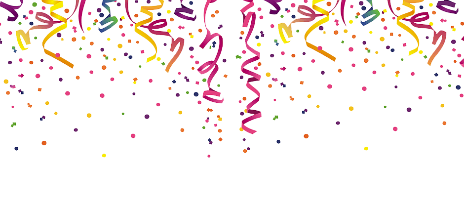 Confetti png. Header transparent stickpng