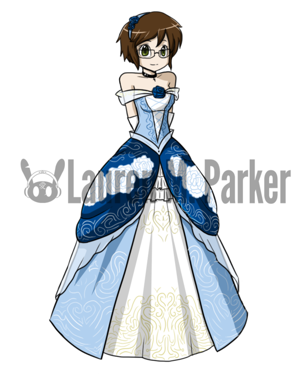 Confidence drawing evening gown. Fancy ball by hero
