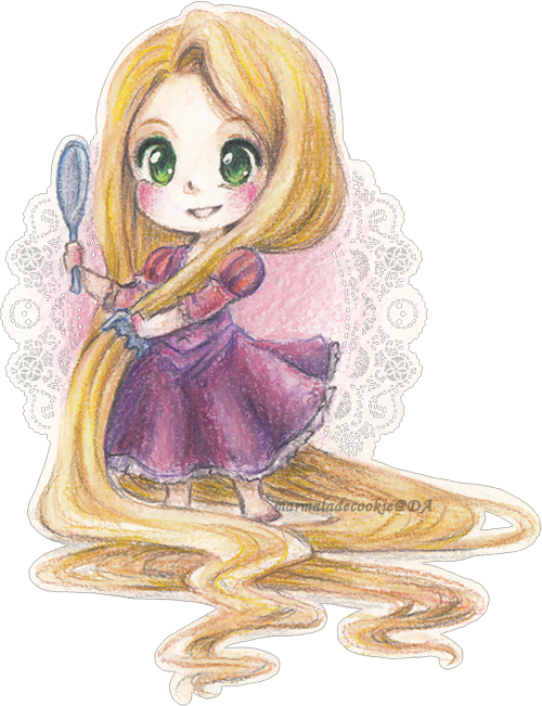 Confidence drawing rapunzel. By marmaladecookie on deviantart