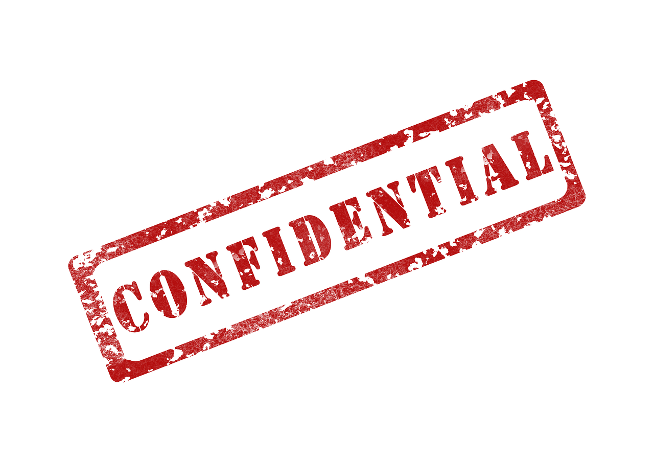 Confidential stamp png. Confidentiality concerns when interviewing